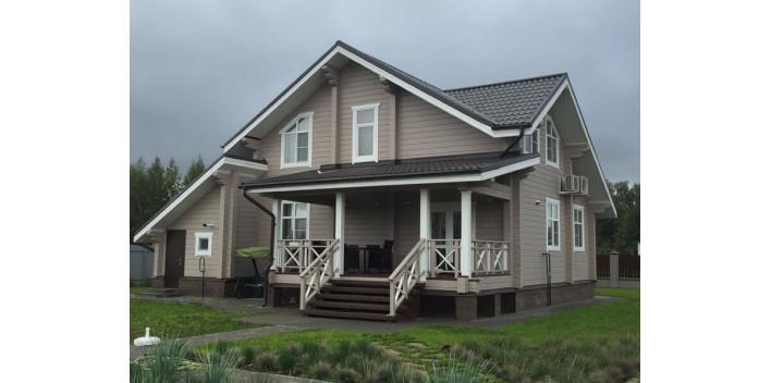 Полутораэтажный жилой дом из бруса на 175 кв.м