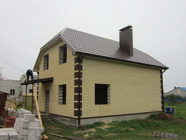 Двухэтажный жилой дом из пеноблока PB-8 на 115 кв.м